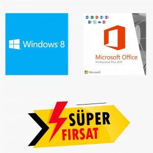 Windows 8 Lisans Anahtarı ve Office 2016 Pro Plus Lisans Anahtarı