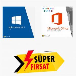 Windows 8.1 Pro Lisans Anahtarı ve Office 2016 Pro Plus Lisans Anahtarı