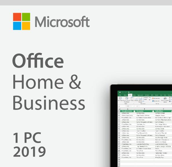 Microsoft Office Home&Business 2019 Lisans Anahtarı