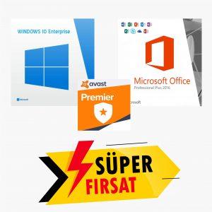 Windows 10 Enterprise Lisans Anahtarı ve Office 2016 Pr Plus Lisans Anahtarı ve Avast Premier Lisans Anahtarı