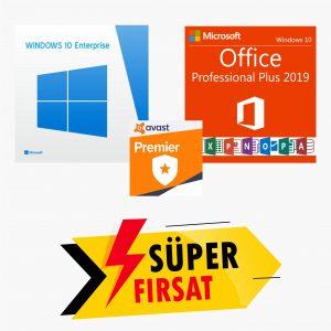 Windows 10 Enterpirse LTSB Lisans Anahtarı ve Office 2019 Pro Plus Lisans Anahtarı ve Avast Premier Lisans Anahtarı