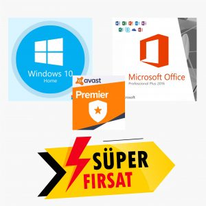 Windows 10 Home Lisans Anahtarı ve Office 2016 Pro Plus Lisans Anahtarı ve Avast Premier Lisans Anahtarı