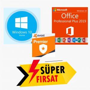 Windows 10 Home Lisans Anahtarı ve Office 2019 Pro Plus Lisans Anahtarı ve Avast Premier Lisans Anahtarı