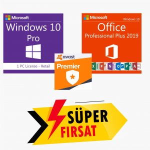 Windows 10 Pro Lisans Anahtarı,Office 2019 Pro Plus Lisans Anahtarı,Avast Premier Lisans Anahtarı