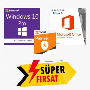 Windows 10 Pro Lisans Anahtarı,Office 2016 Lisans Anahtarı,Avast Premier Lisans Anahtarı