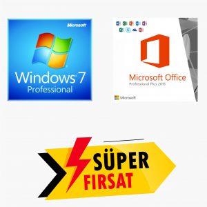 Windows 7 Pro Lisans Anahtarı ve Office 2016 Pro Plus Lisans Anahtarı