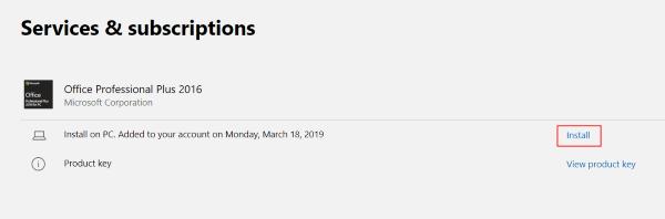 Office 2019 Pro Plus Etkinleştirmeden sonra indirme ekranı