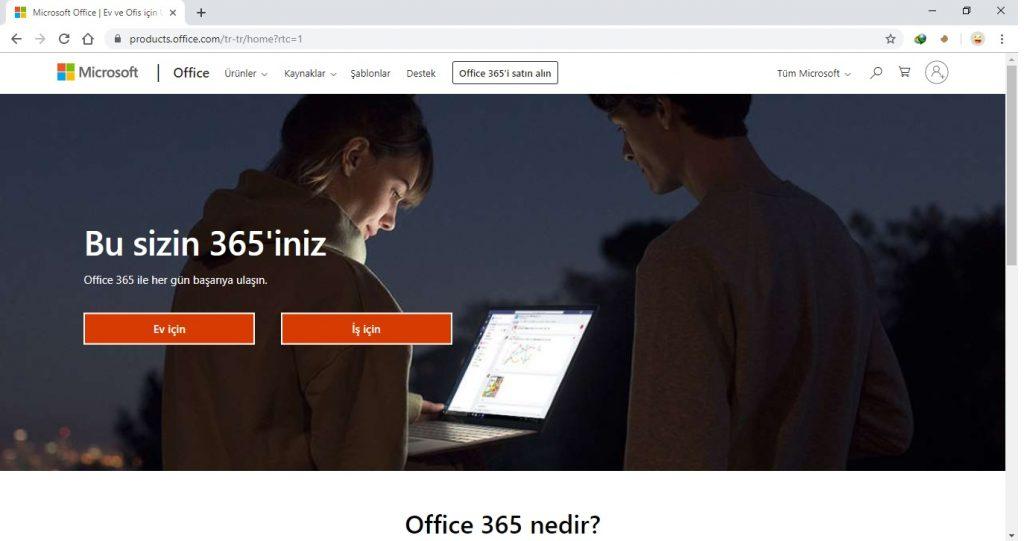 Office Satın Alma İçin Microsoft Office 2019 Pro Plus Satın Alma Sayfası