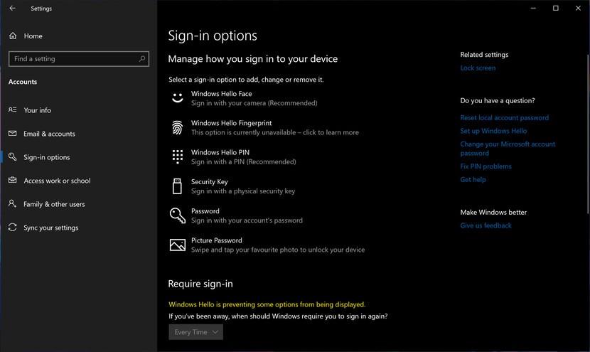 Windows 10 Pro Ayarlar Ekranı