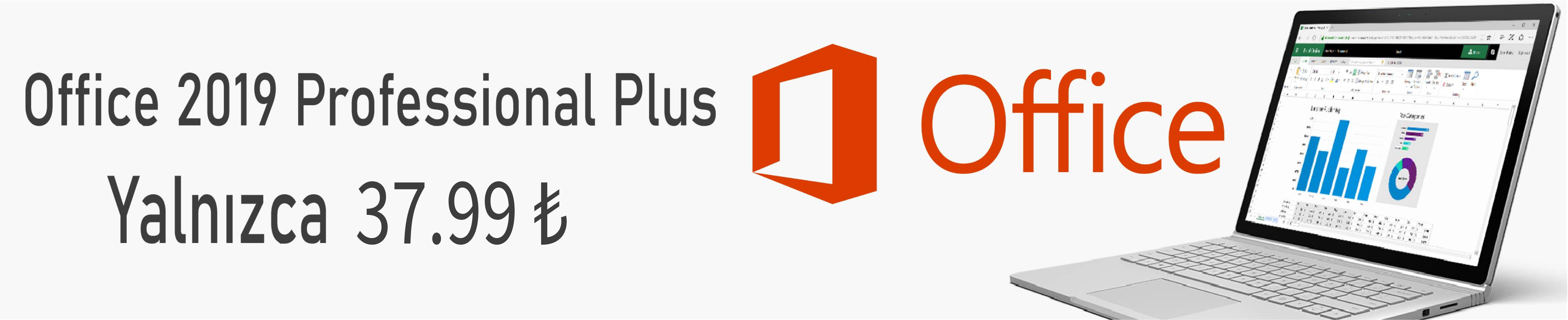 Office 2019 Pro Plus Lisans Anahtarı Yalnızca 37.99 TL